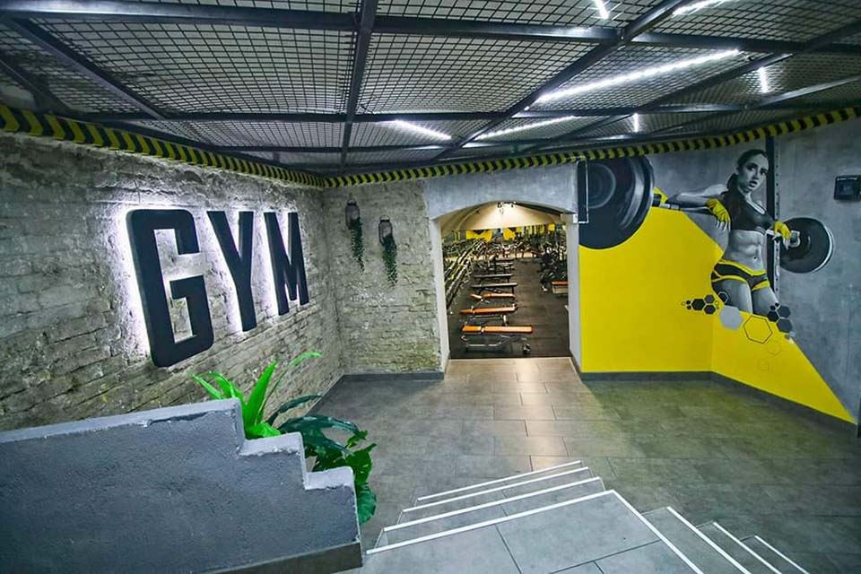 4% Fitness Gym előtér